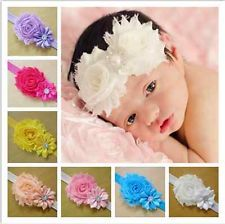 Alice Baby Girl Headbands with Crystal Flower Petals (Pack of 20)