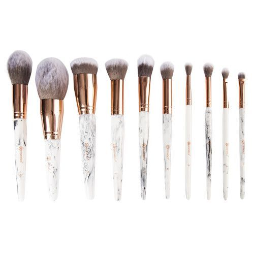 Bh Cosmetics Marble Luxe 10 Piece Brush Set Homemadeblush How To Clean Makeup Brushes Bh Cosmetics Makeup Brush Set