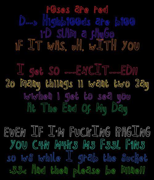 Homestuck poem. <3 so adorable.