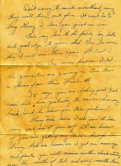 WWII March 13th 1944 Departing Soldier Love Letter To War