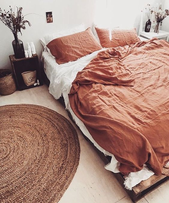Burnt Orange Bedroom Bohemian Bedroom Decor Bedroom Inspirations Bohemian Bedroom