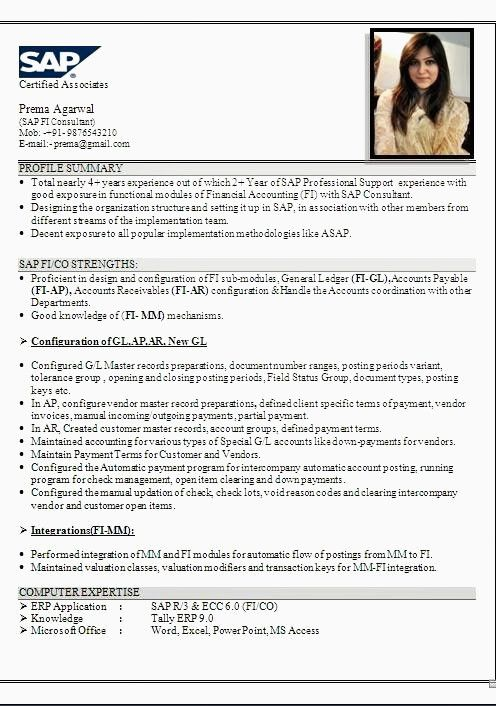 For Tally Erp 9 | Resume format, Resume examples, Resume