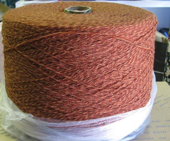 Rust Tweed 3/15 acrylic yarn on cones. great for machine knitting, hand knitting, crochet, weaving, and sock machines. Stephanies Studio & Yarn and etsy.com/shop/stephaniesyarn