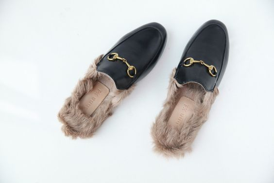 Percy fur lined slippers
