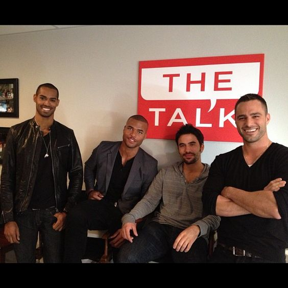 """The Young and The Restless"" hunks Redaric Williams, Lamon Archey, Ignacio Serricchio & Marco Dapper backstage!"