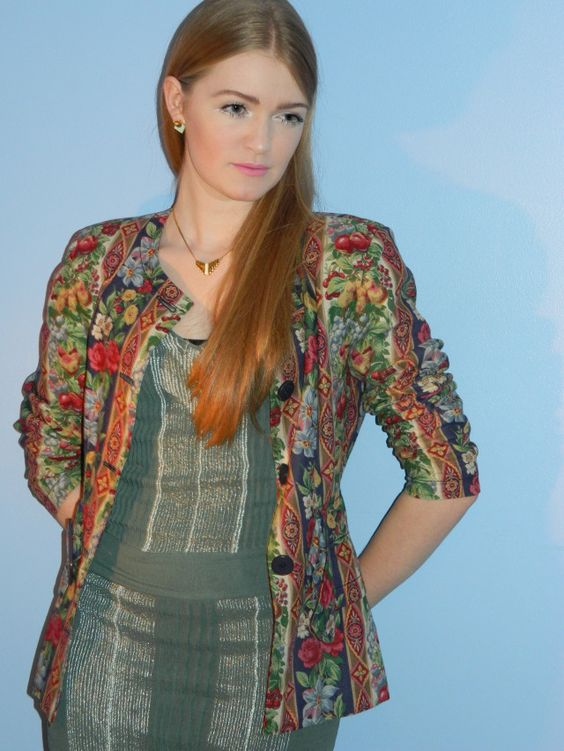 Brighten up your wardrobe this winter with a colourfully patterned jacket #vintage #Faversham
