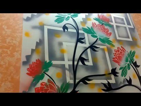 10 Ceiling Colour Design Ideas Easy Youtube In 2021 Stencil Wall Art 3d Wall Art Stencil Designs
