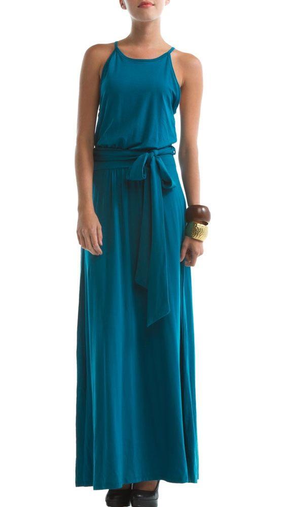 Tencel dress in Deep Ocean blue.
