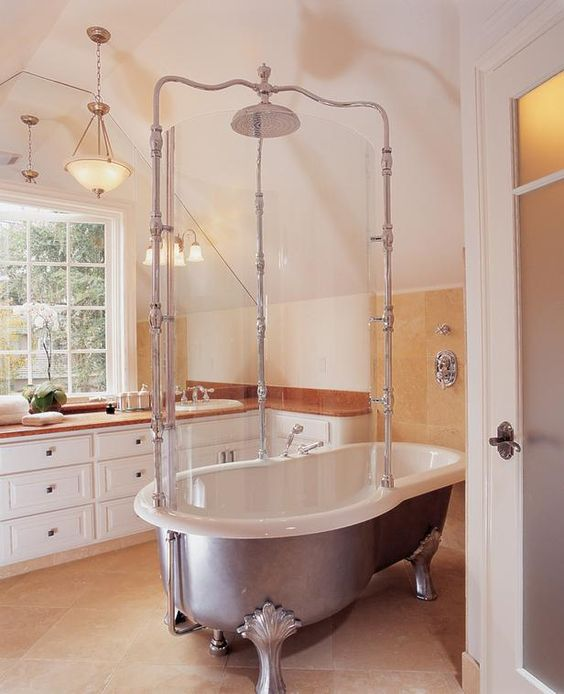 Clawfoot Tub Shower Note And Clawfoot Tubs On Pinterest
