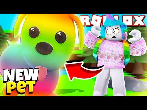 New Rainbow Pets In Adopt Me Giant Pets And Mini Pets Roblox