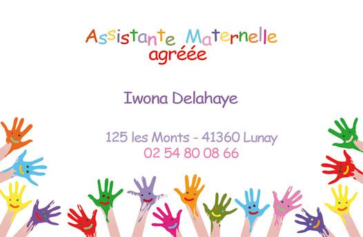 carte de visite assistante maternelle Carte de visite assistante maternelle (avec images) | Assistante