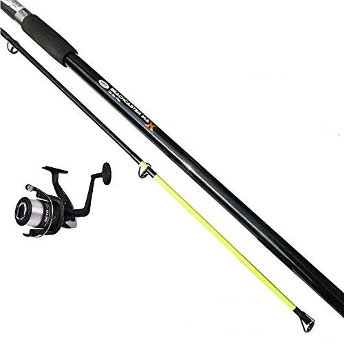 Beachcaster Max 12ft 2pc Rod Shakespeare Beach Reel With Line Sea Fishing Beachcaster Max 12ft 2pc 4 6oz Beach Caster Surf Sea Fishing Rod 12ft 2 Piece 4 6o