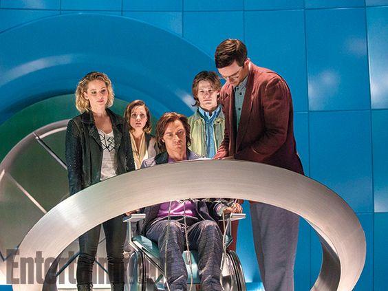 James McAvoy, Jennifer Lawrence et Nicholas Hoult dans X-Men Apocalypse