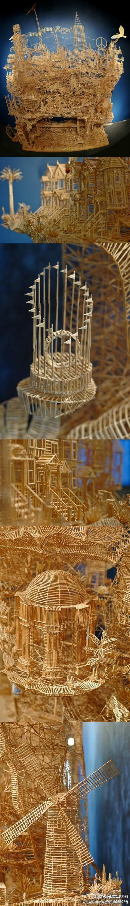 O Toothpick Art Crafts I 39 Ll Do Pinterest L 39 Wren