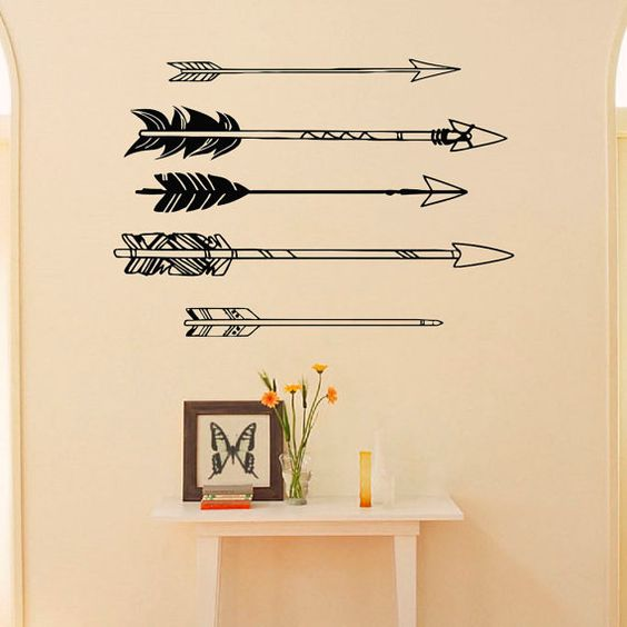 Tribal arrow wall decal vinyl stickers navaho arrow wall for Indie wall art ideas
