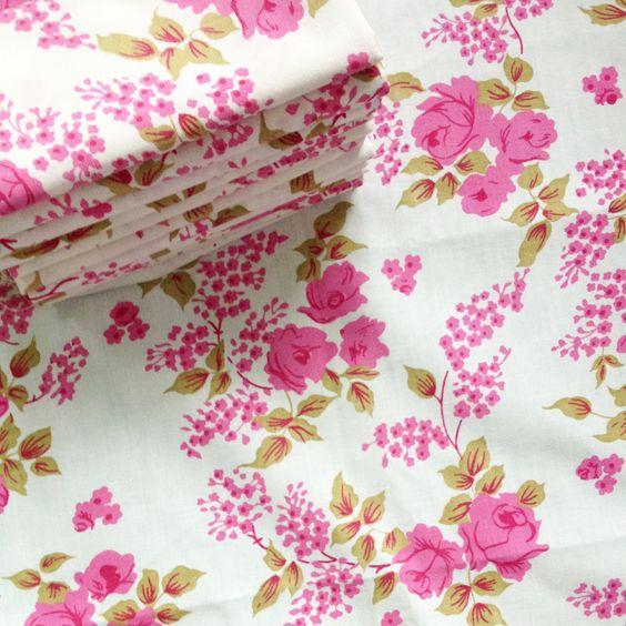 Vintage Fabric. Vintage Sheets. Fat Quarters. Now all SOLD. #vintagefabric #vintagesheets