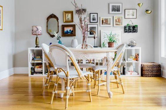 Parisian Café Inspired Dining Room #Hygge #decor