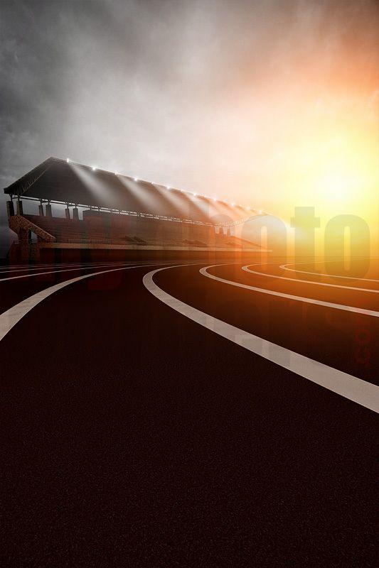 Digital background track sunrise Digital backgrounds and Digital