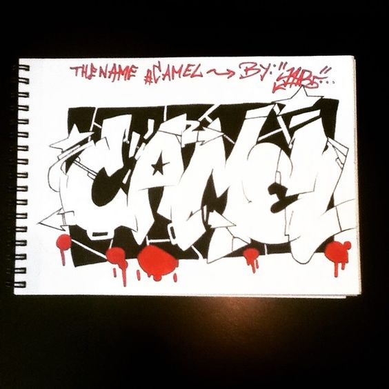 The name Camel ( @sxmcamel ) If you want your name also in graffiti ask in comment! I'll draw the name so fast as possible. I draw only first names... #art#artsy#artistic#graff#graffart#graffname#grafflettering#graffiti#graffitiart#graffitiname#graffitilettering#name#lettering#CAMEL#streetart#wallart#urbanart#draw#drawing#sketch#sketching#sketchbook#selfmade#handmade#collor