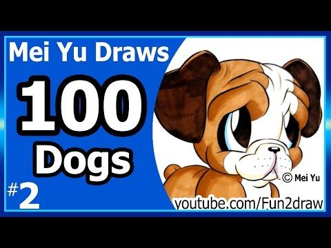 Cute bulldog mei yu draws 100 dogs 2 100 drawings challenge cute bulldog mei yu draws 100 dogs 2 100 drawings challenge fun2draw youtube fun2draw pinterest cute bulldogs bulldogs and draw ccuart Images
