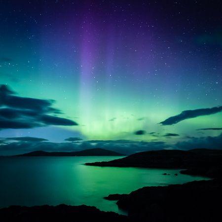 The Northern Lights on the Isle of Harris, Scotland