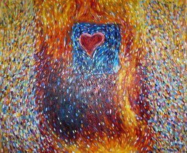 """Saatchi Art Artist jaya liila; Painting, """"CUORICINO INNAMORATO"""" #art"""