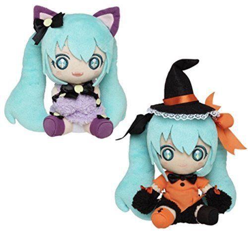 Hatsune Miku Plush Halloween Version Set Taito Doll Stuffed Animal