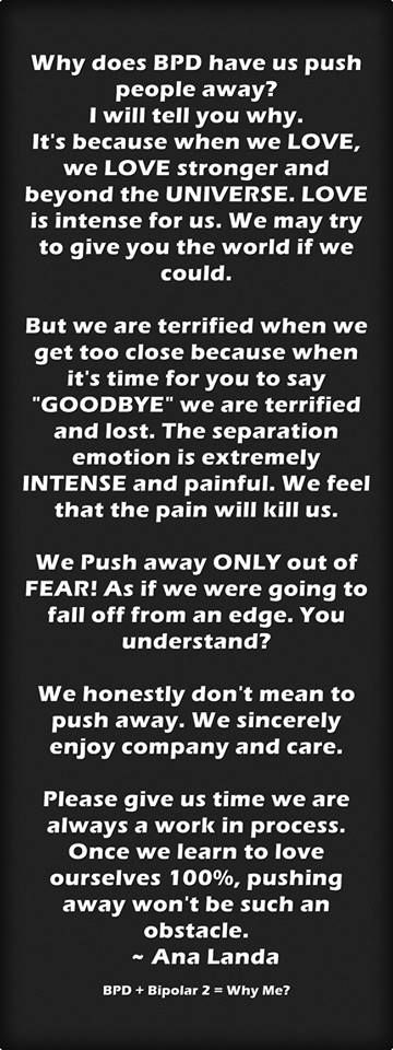 why do we push people away