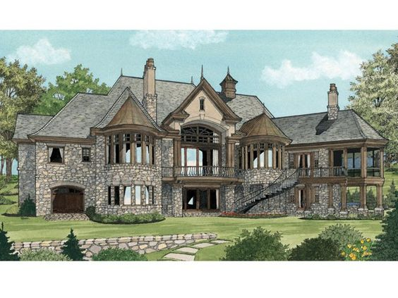European House Plan   Square Feet and Bedrooms from    European House Plan   Square Feet and Bedrooms from Dream Home Source   House Plan Code DHSW