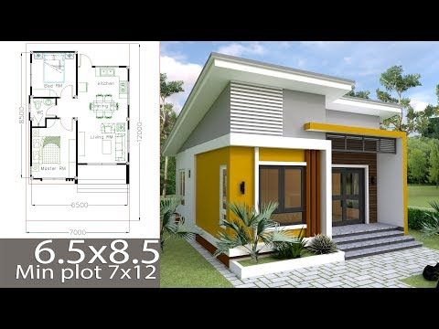 Small Home Design Plan 6 5x8 5m With 2 Bedrooms This Villa Is Modeling By Sam Architect With One Stories Le Simple House Design Small House Design House Plans