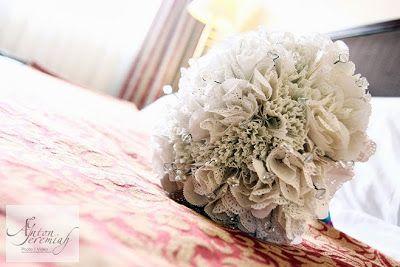 paper doily wedding bouquet