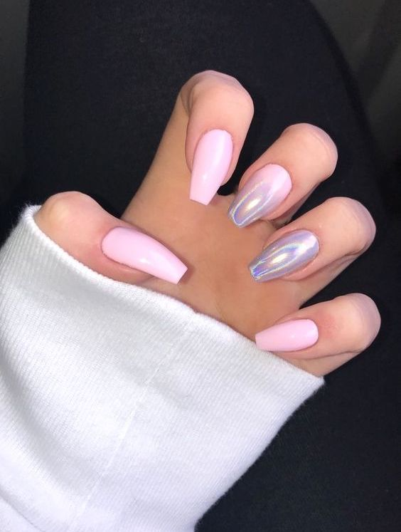 Simple Nail Styles Are Popular At Holiday Parties Page 12 Of 51 Sciliy Acrylic Nails Coffin Pink Solid Color Nails Baby Pink Nails