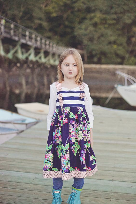 Girls Dress  Nautical Style Knot Dress by CoralBelles on Etsy, $46.00...my little lily!