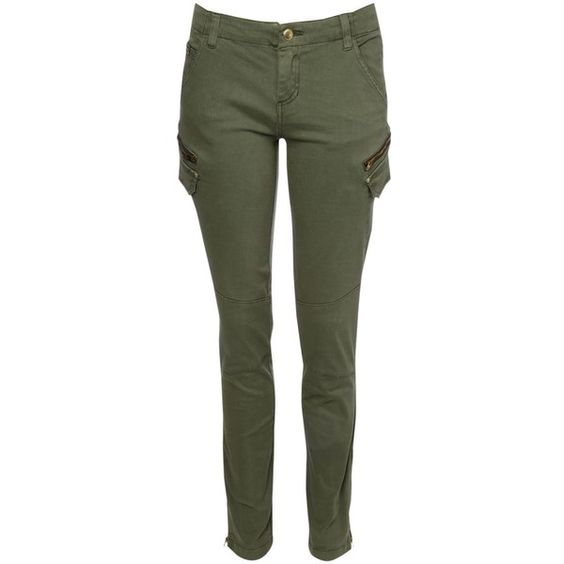 Khaki pants, Skinny and Polyvore on Pinterest