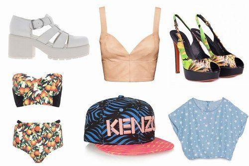 La moda per l'estate 2014 porta in strada tinte audaci, scopre le pance e gioca con le fantasie dal sapore tropicale | #MustHave #Estate 2014