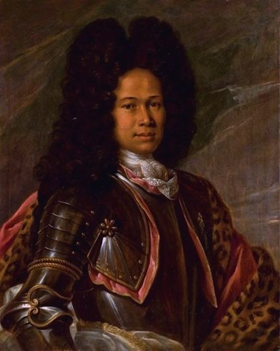 """Oil on canvas from the school of Francois de Troy in Toulouse, France- Portrait of A """"Mulatto"""" Aristocrat in Armor probably painted between 1680-1730"""