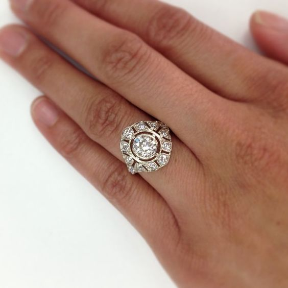 This is an incredible ring - a 1.17ct old European cut diamond in our meticulously crafted 18kt natural white gold. A hand crafted Single Stone original. (213) 892-0772 www.singlestone.com #18kt #gold #whitegold #diamonds #sparkle #dazzle #hello #cocktail #wedding #engagement #rings #statementring #want #pow #yes #ido #fireworks #vintage #antique #perfect #artisan #beautiful