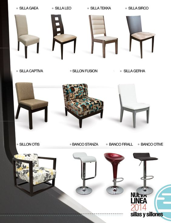 Sillas de inlab muebles varios modelos y bancos para barra for Modelos de sillas de madera de comedor