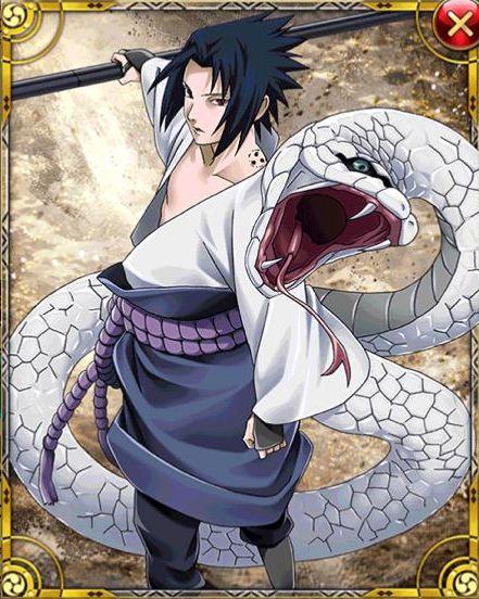 白い蛇と万華鏡写輪眼うちはサスケ