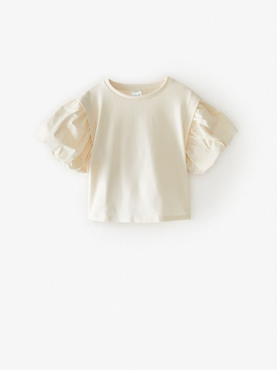 Zara Kids T Shirt With Puff Sleeves In 2020 Modestil Madchen Kleidung T Shirts Fur Madchen