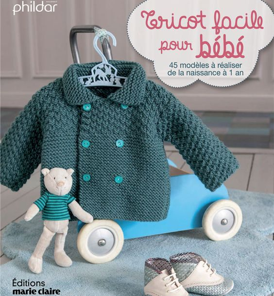 livre modele tricot facile layette