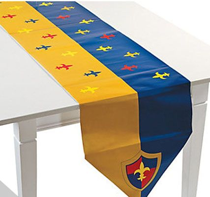Knight party decorations - table runner: