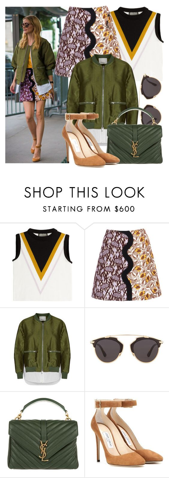 """""""Olivia Palermo"""" by justadream133 ❤ liked on Polyvore featuring Giambattista Valli, 3.1 Phillip Lim, Christian Dior, Yves Saint Laurent, Jimmy Choo, StreetStyle and OliviaPalermo"""