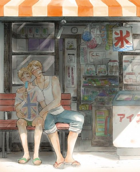 Tags: Anime, Flip Flops, Axis Powers: Hetalia, United States, United Kingdom, Sandals, Allied Forces