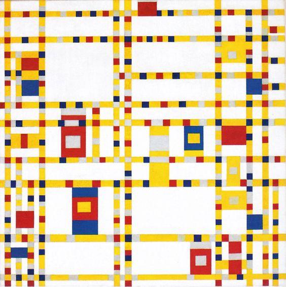 Piet Mondrian - Broadway Boogie Woogie [1943] - Google Search