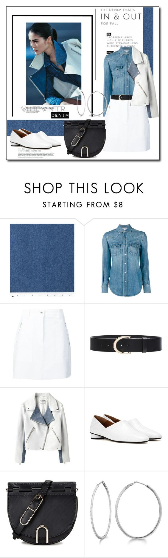 """White Winter Denim"" by littlefeather1 ❤ liked on Polyvore featuring Yves Saint Laurent, rag & bone, Frame Denim, Acne Studios, The Row, 3.1 Phillip Lim, Allurez, topsets and polyvoreeditorial"