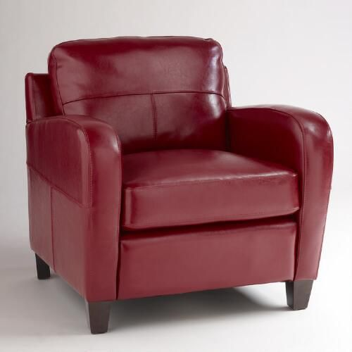 Red Leather Mason Chair   World Market