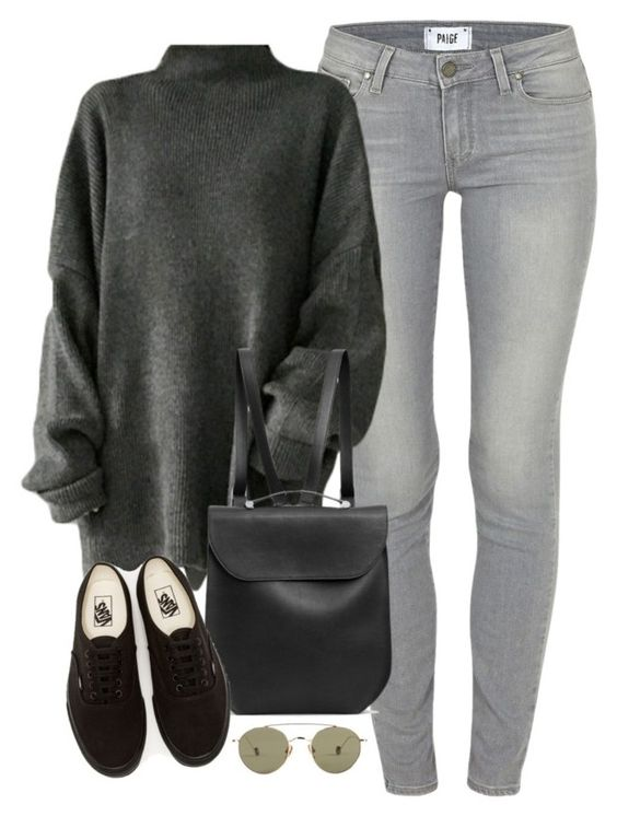 """""""Untitled #2810"""" by kaylinminnec ❤ liked on Polyvore featuring Paige Denim, GRETCHEN, Vans and Ahlem"""