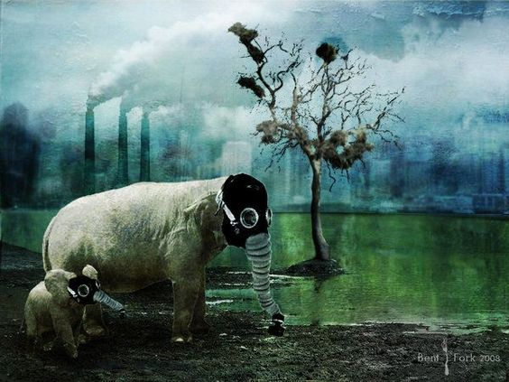 elephant with a gas mask | Found on fc00.deviantart.net