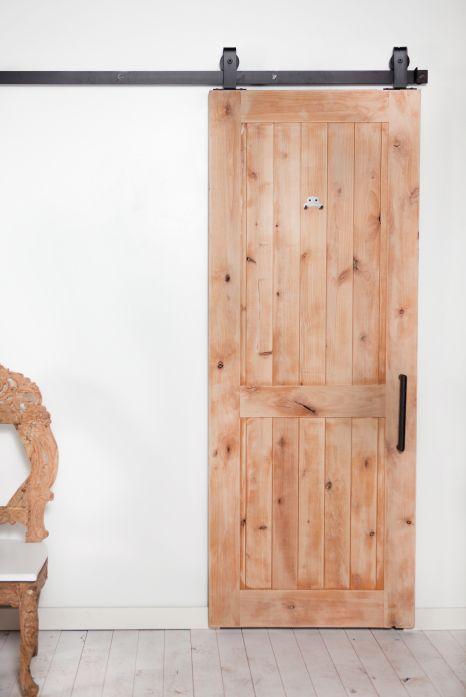 Modern rustic rolling barn door rollingbarndoor for Modern barn door ideas